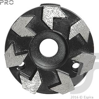 Алмазная шлифовальная фреза «Стрела» Pro Ø96*20*10 7 сегм GSI