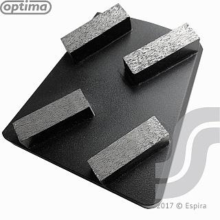 Франкфурт шлифовальный E Optima 100 4 сегм 40*12*12 GSM100E