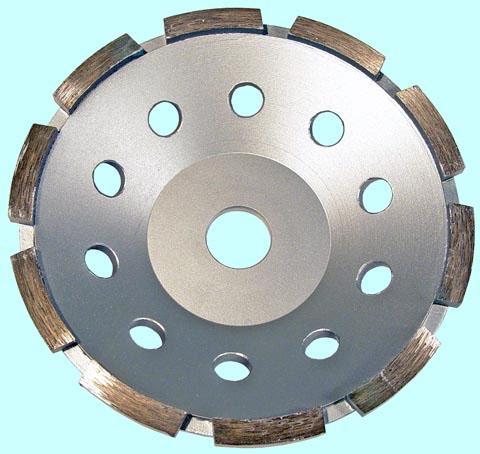 Круг алмазный Чашечный для прямых и углошлифовальных машин сегментый однорядный 150х22мм