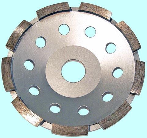 Круг алмазный Чашечный для прямых и углошлифовальных машин сегментый однорядный 125х22мм (SC1271)