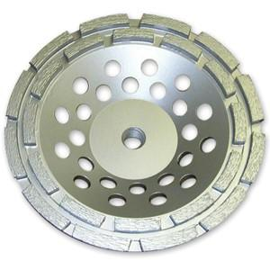 Круг алмазный Чашечный для прямых и углошлифовальных машин сегментый 2х-рядный 150х22мм