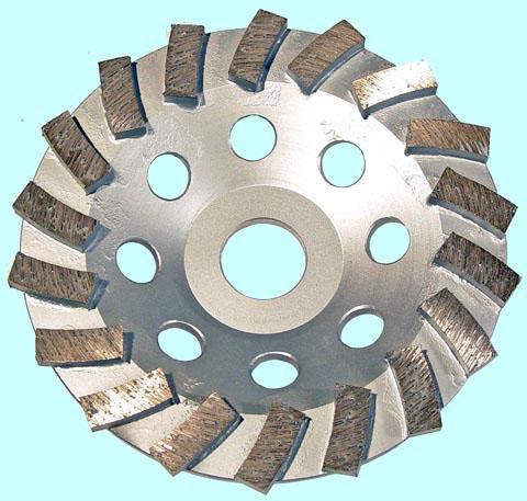 Круг алмазный Чашечный для прямых и углошлифовальных машин сегментый Турбо 125х22мм (TC1271)