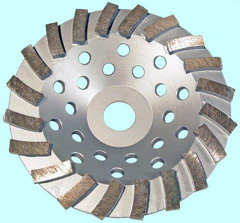 Круг алмазный Чашечный для прямых и углошлифовальных машин сегментый Турбо 150х22мм (TC1521)