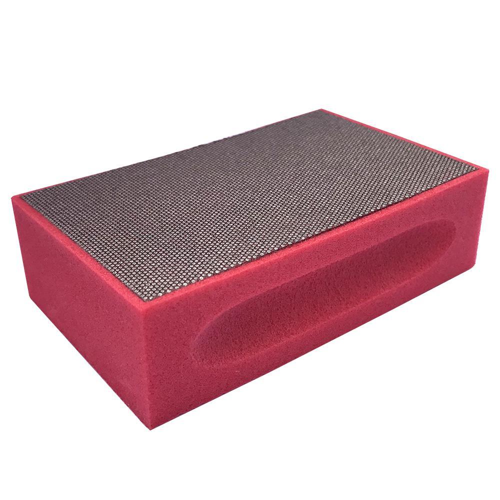 Затир ручной (прямой профиль) зерно 200 (красная,  металл)