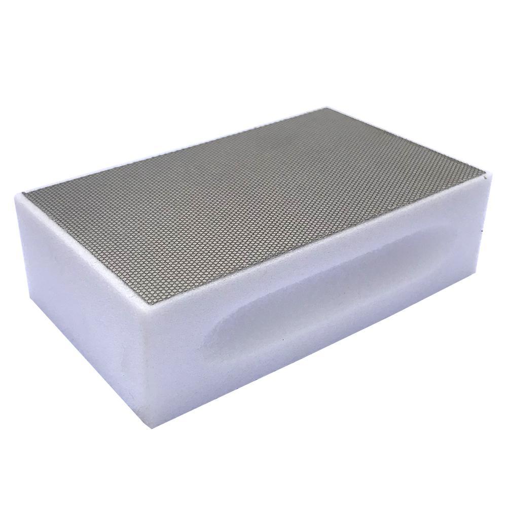 Затир ручной (прямой профиль) зерно 600 (белый никель, металл);