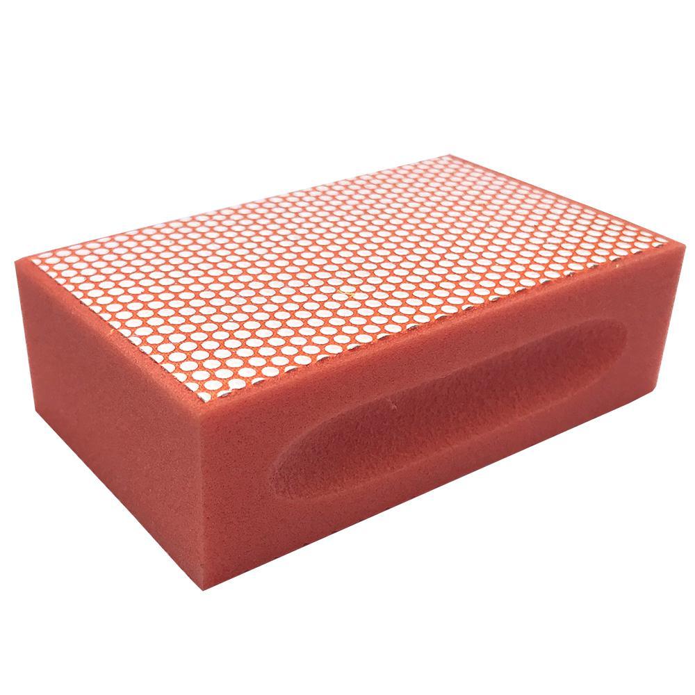 Затир ручной (прямой профиль) зерно 8000 (оранжевая, полимер)