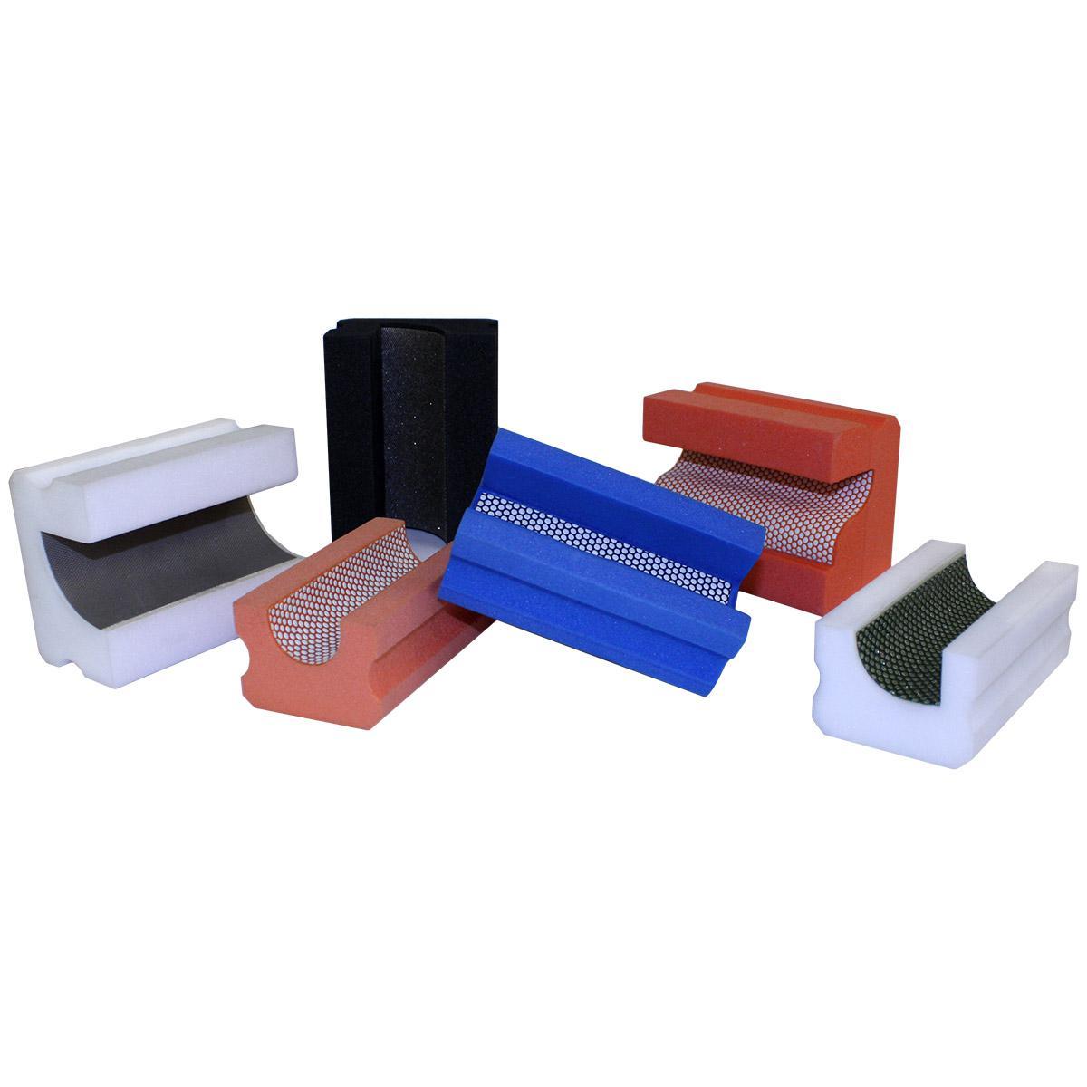 Затир ручной (профиль V) h-30 мм, зерно 1000 (синяя, полимер)