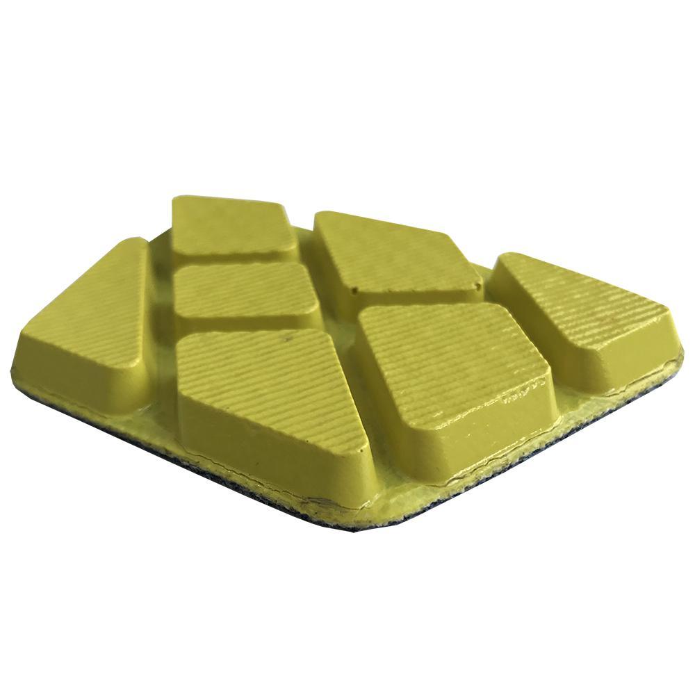 Шлифовальный алмазный сегмент MUNIC PRO полимер №3 желтый (крючок)