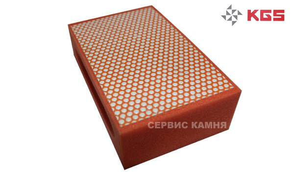 Губка алмазная №3000 KGS (оранжевая)