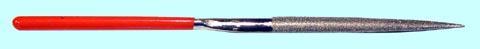 """Надфиль Алмазный полукруглый L160х4 с обрезиненной ручкой """"CNIC"""" 25131"""