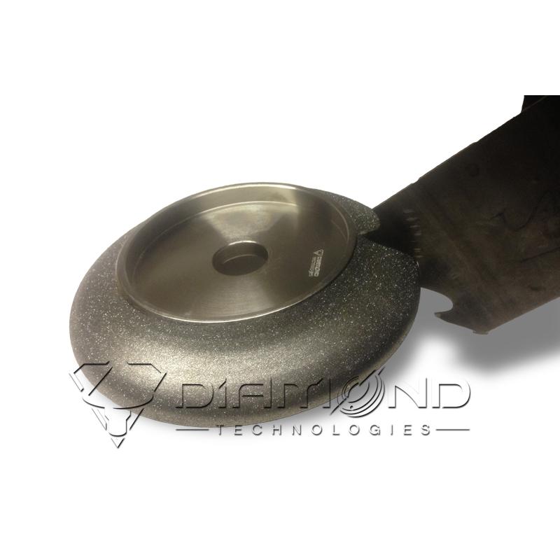 Эльборовый (боразоновый) круг для заточки ленточных пил 203x32 шаг 45 (CBN)